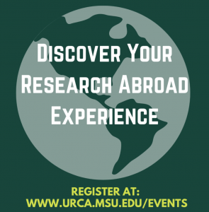 Discover Your Research Abroad Experience @ Online