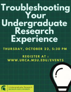 Troubleshooting Your Undergraduate Research Experience