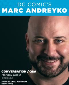 DC Comic's Marc Andreyko @ Studio 60 | East Lansing | Michigan | United States