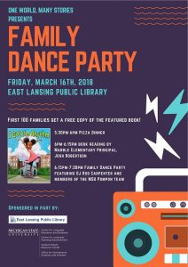 One World, Many Stories: Family Dance Party @ East Lansing Public Library | East Lansing | Michigan | United States