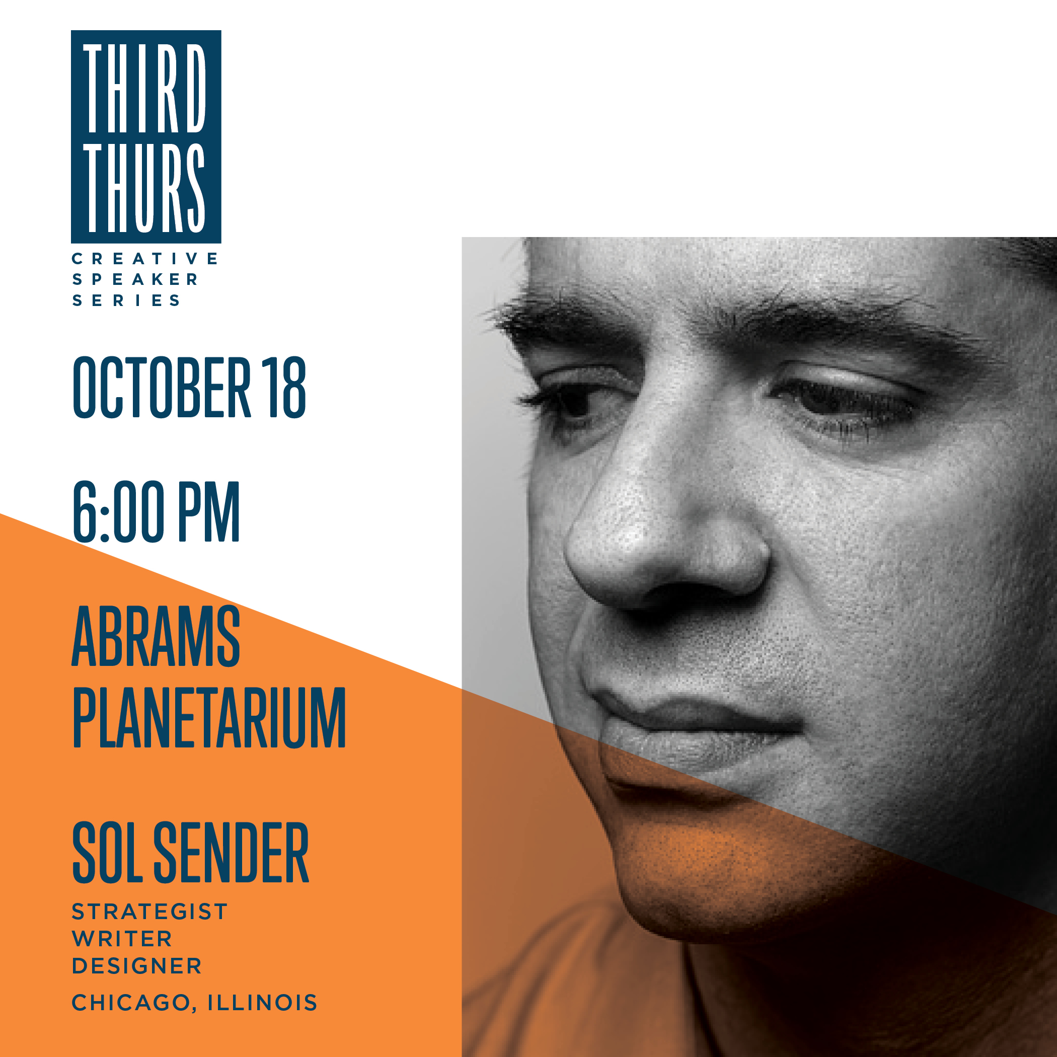 Third Thursday Creative Speaker Series Presents Sol Sender @ Abrams Planetarium | East Lansing | Michigan | United States