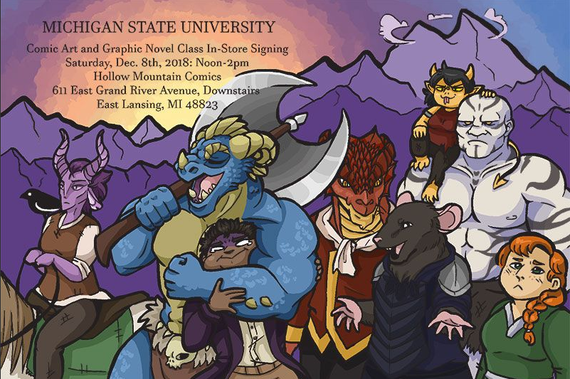 MSU Comic Art and Graphic Novel Class In-Store Signing @ Hollow Mountain Comics | East Lansing | Michigan | United States
