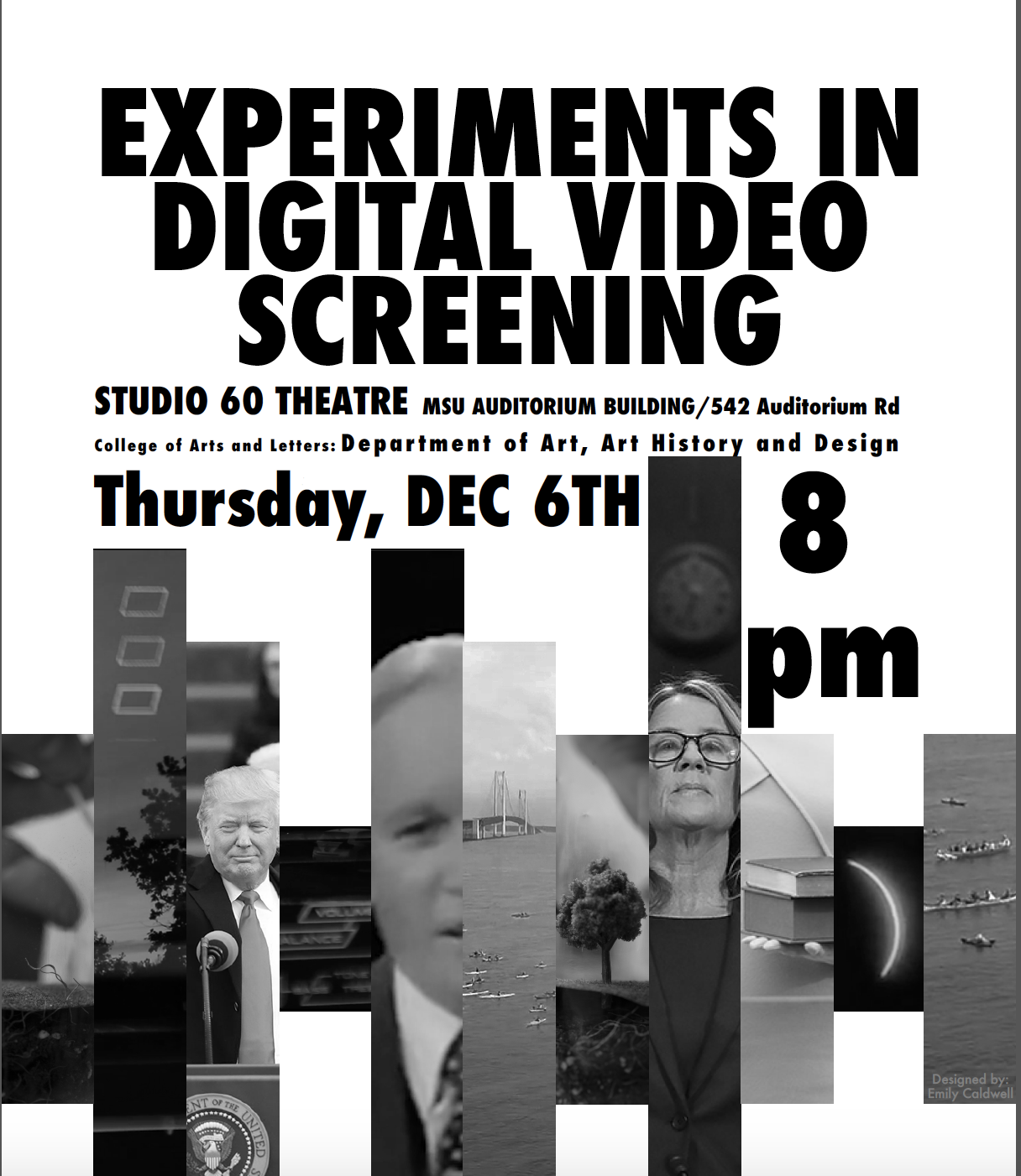 Experiments in Digital Video-- Screening Fall 2018 @ Studio 60 Theatre, MSU Auditorium, Room 60 | East Lansing | Michigan | United States
