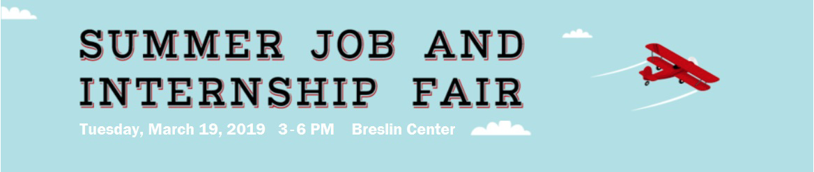 Summer Job and Internship Fair @ Breslin Center