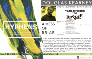 HYPHENS: Douglas Kearney @ LookOut! Art Gallery, Snyder-Phillips Hall | East Lansing | Michigan | United States