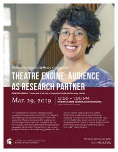 Interdisciplinary Colloquium: Alison Dobbins @ International Center, Spartan Rooms | East Lansing | Michigan | United States