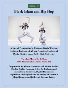 Black Islam and Hip Hop @ MSU International Center, Room 303 | East Lansing | Michigan | United States