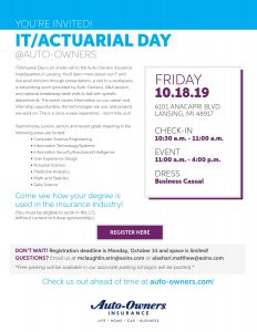IT/Actuarial Day @ Auto-Owners Insurance | Lansing | Michigan | United States