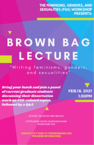FGS Brown Bag Lecture @ East Lansing   Michigan   United States