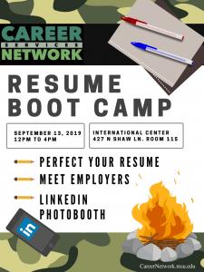 Resume Bootcamp @ International Center, Room 115 | East Lansing | Michigan | United States