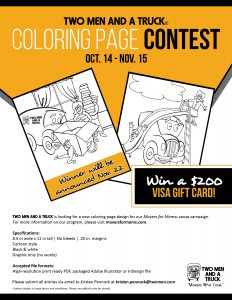 TWO MEN AND A TRUCK® Coloring Page Contest