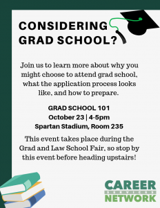 Grad School 101 @ Spartan Stadium, Room 235