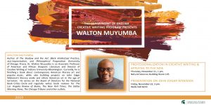 Walton Muyumba @ Natural Sciences Building Room 145 | East Lansing | Michigan | United States