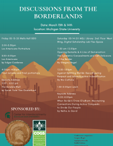 COGS Conference: Discussion from the Borderlands @ Wells Hall Presentation Space B310 | East Lansing | Michigan | United States