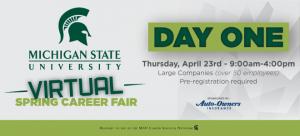 MSU Virtual Spring Career Fair Day 1 - Large Companies