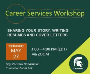 SHARING YOUR STORY: WRITING RESUMES & COVER LETTERS @ Zoom