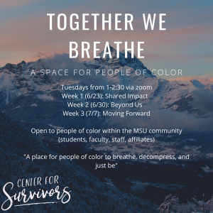 Together We Breath: A Space for People of Color @ Zoom