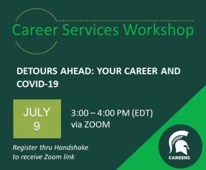 Detours Ahead: Your Career and COVID-19 @ Zoom