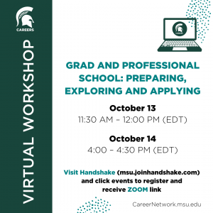 CSN Fall Series | Grad & Professional School: Preparing, Exploring, and Applying @ Online