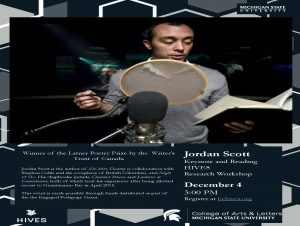 HIVES: Jordan Scott Reading & Keynote