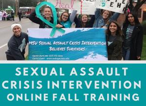 Sexual Assault Crisis Intervention Fall Online Training Class