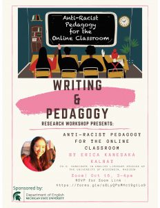 Writing & Pedagogy Workshops: Anti-Racist @ via Zoom