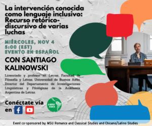 La Intervención Conocida como Lenguaje Inclusivo: Recurso Retórico-discursivo de Varias Luchas - Santiago Kalinowski @ Online
