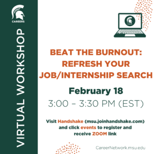 Beat the Burnout: Refresh Your Job/Internship Search