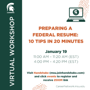 Preparing a Federal Resume: 10 Tips in 20 Minutes