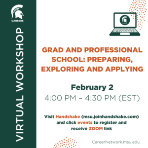 Grad & Professional School: Preparing, Exploring, and Applying