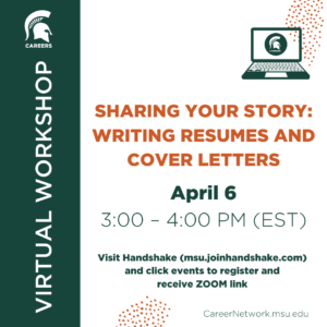 Sharing Your Story: Resumes & Cover Letters