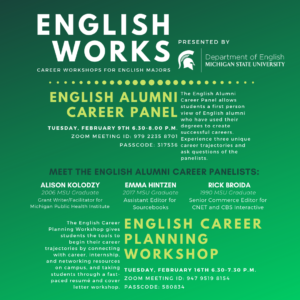 English Works Career Planning Workshop