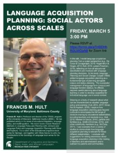 Language Acquisition Planning: Social Actors Across Scales @ Online Event