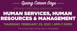 MSU Spring Career Days: Human Services, Human Resources and Management
