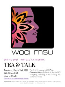 Tea & Talk - Womxn of Color Initiatives (WOCI) Virtual Gathering