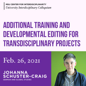 Additional Training and Developmental Editing for Transdisciplinary Projects