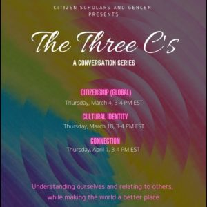 The Three C's: A Conversation Series @ Zoom