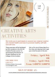 Creative Arts Activities (day one)
