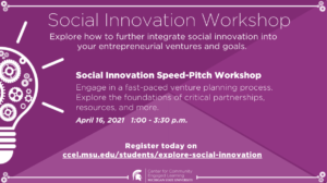 Social Innovation Speed-Pitch Workshop