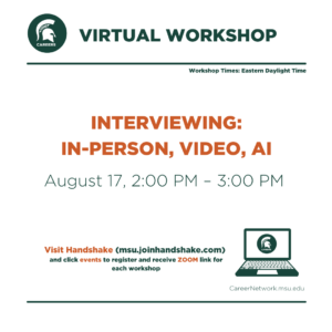 CSN Summer Series | Interviewing: Preparing for In-Person, Video and Artificial Intelligence Interviews