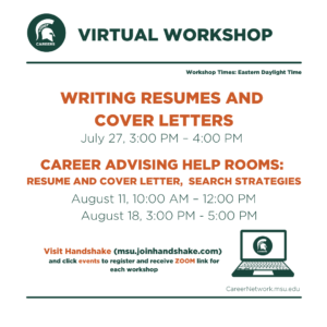 CSN Summer Series | Writing Resumes and Cover Letters