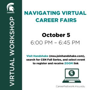CSN Fall Series | Navigating Virtual Career Fairs