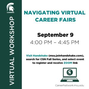 CSN Fall Series   Navigating Virtual Career Fairs