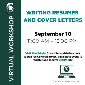 CSN Fall Series | Writing Resumes and Cover Letters