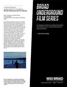 Broad Underground Film Series @ MSU Broad | East Lansing | Michigan | United States