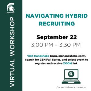 CSN Fall Series | Navigating Hybrid Recruiting