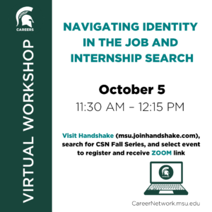 CSN Fall Series | Navigating Identity in the Job and Internship Search