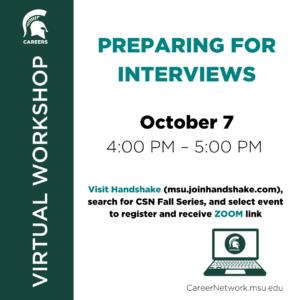 CSN Fall Series | Preparing for Interviews